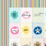 Bella Blvd - Color Chaos Collection - 12 x 12 Double Sided Paper - Months