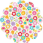 Bella Blvd - Color Chaos Collection - Invisibles - 12 x 12 Die Cut Paper - Flower Fancy