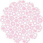 Bella Blvd - Color Chaos Collection - Invisibles - 12 x 12 Die Cut Paper - Pink Posies