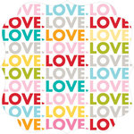 Bella Blvd - Color Chaos Collection - Invisibles - 12 x 12 Die Cut Paper - Love