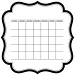 Bella Blvd - Color Chaos Collection - Invisibles - 12 x 12 Die Cut Paper - Calendar