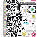 Bella Blvd - Color Chaos Collection - 12 x 12 Cardstock Stickers - Treasures and Text
