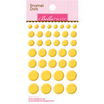 Bella Blvd - Color Chaos Collection - Enamel Stickers - Dots - Bell Pepper