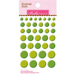 Bella Blvd - Color Chaos Collection - Enamel Stickers - Dots - Guacamole