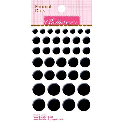 Bella Blvd - Color Chaos Collection - Enamel Stickers - Dots - Oreo Black