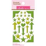Bella Blvd - Color Chaos Collection - Enamel Stickers - Doodads - Guacamole