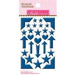 Bella Blvd - Color Chaos Collection - Enamel Stickers - Doodads - Blueberry
