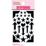 Bella Blvd - Color Chaos Collection - Enamel Stickers - Doodads - Oreo Black