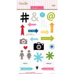 Bella Blvd - Color Chaos Collection - Ciao Chip - Self Adhesive Chipboard - Symbols