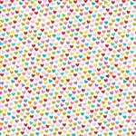 Bella Blvd - Color Chaos Collection - Clear Cuts - 12 x 12 Transparency - Hearts Colorful
