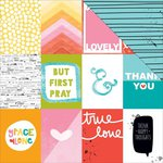 Bella Blvd - Illustrated Faith - Whatever is Lovely Collection - 12 x 12 Double Sided Paper - 3 x 4
