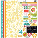 Bella Blvd - Illustrated Faith - Whatever is Lovely Collection - 12 x 12 Cardstock Stickers - Treasures and Text