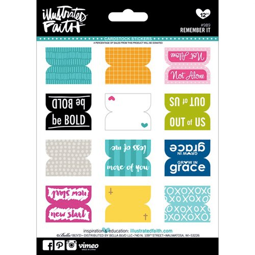 Bella Blvd - Illustrated Faith - 5 x 7 Stickers - Remember It