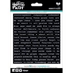 Bella Blvd - Illustrated Faith - 5 x 7 Stickers - Wordfetti - Black