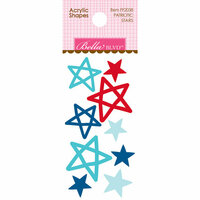 Bella Blvd - Fireworks and Freedom Collection - Acrylic Shapes - Patriotic Stars