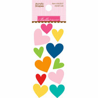 Bella Blvd - Home Sweet Home Collection - Acrylic Shapes - Heart Mix