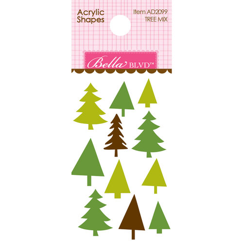 Bella Blvd - Let's Go On An Adventure Collection - Acrylic Shapes - Tree Mix