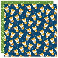 Bella Blvd - Let's Go On An Adventure Collection - 12 x 12 Double Sided Paper - Shy Foxes