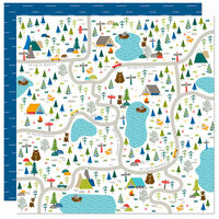 Bella Blvd - Let's Go On An Adventure Collection - 12 x 12 Double Sided Paper - Park Map