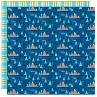 Bella Blvd - Let's Go On An Adventure Collection - 12 x 12 Double Sided Paper - Mountain Peaks