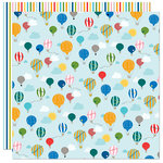 Bella Blvd - Let's Go On An Adventure Collection - 12 x 12 Double Sided Paper - Balloon Ride