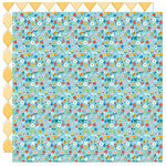 Bella Blvd - Let's Go On An Adventure Collection - 12 x 12 Double Sided Paper - Morning Meadow