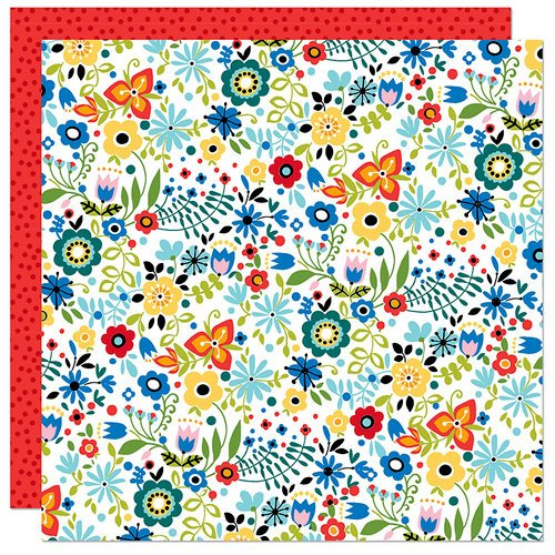 Bella Blvd - Let's Go On An Adventure Collection - 12 x 12 Double Sided Paper - Wildflowers