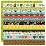 Bella Blvd - Let's Go On An Adventure Collection - 12 x 12 Double Sided Paper - Borders