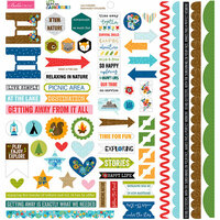 Bella Blvd - Let's Go On An Adventure Collection - Doohickey - Cardstock Stickers