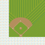 Bella Blvd - Baseball Collection - 12 x 12 Double Sided Paper - America's Pastime