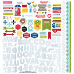 Bella Blvd - Baseball Collection - 12 x 12 Cardstock Stickers - Fundamentals