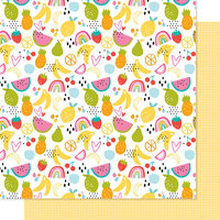 Bella Blvd - Squeeze The Day Collection - 12 x 12 Double Sided Paper - Fruit Salad