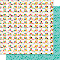 Bella Blvd - Squeeze The Day Collection - 12 x 12 Double Sided Paper - Fruity Hearts