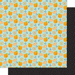 Bella Blvd - Squeeze The Day Collection - 12 x 12 Double Sided Paper - Orange You Glad