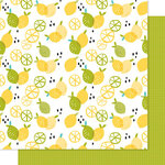Bella Blvd - Squeeze The Day Collection - 12 x 12 Double Sided Paper - Zesty