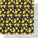 Bella Blvd - Squeeze The Day Collection - 12 x 12 Double Sided Paper - Lemon Fresh