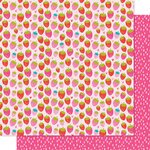 Bella Blvd - Squeeze The Day Collection - 12 x 12 Double Sided Paper - So Berry Sweet