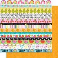 Bella Blvd - Squeeze The Day Collection - 12 x 12 Double Sided Paper - Borders