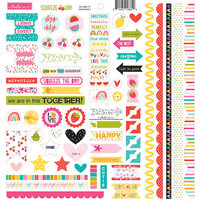 Bella Blvd - Squeeze The Day Collection - 12 x 12 Cardstock Stickers - Doohickey