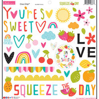 Bella Blvd - Squeeze The Day Collection - Chipboard Stickers - Icons