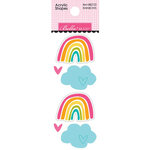 Bella Blvd - Squeeze The Day Collection - Acrylic Shapes - Rainbows