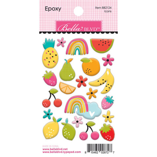 Bella Blvd - Squeeze The Day Collection - Epoxy Stickers - Icons