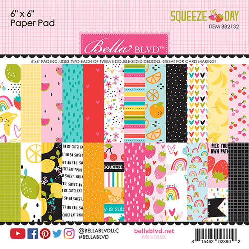 Bella Blvd - Squeeze The Day Collection - 6 x 6 Paper Pad