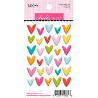 Bella Blvd - Squeeze The Day Collection - Epoxy Stickers - Hearts Icons