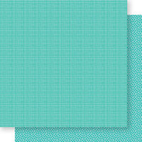 Bella Blvd - Bella Besties Collection - 12 x 12 Double Sided Paper - Gulf Graph and Dot