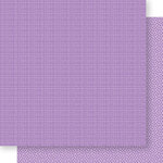Bella Blvd - Bella Besties Collection - 12 x 12 Double Sided Paper - Plum Graph and Dot