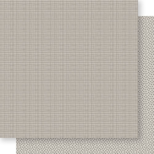 Bella Blvd - Bella Besties Collection - 12 x 12 Double Sided Paper - Oyster Graph and Dot