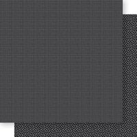 Bella Blvd - Bella Besties Collection - 12 x 12 Double Sided Paper - Black Graph and Dot