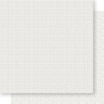 Bella Blvd - Bella Besties Collection - 12 x 12 Double Sided Paper - White Graph and Dot