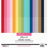 Bella Blvd - Bella Besties Collection - 12 x 12 Collection Pack - Graph and Dot Rainbow